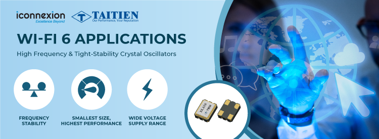 High-Frequency and Tight-Stability Crystal Oscillators for Wi-Fi 6 Applications